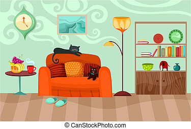 room - vector illustration of a room
