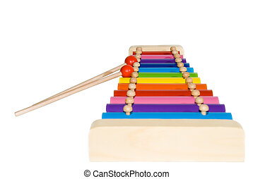 XylophoneXylophone with color plates on a white background