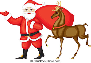 Santa and Rudolph - Santa Claus and Rudolph run next. Santa...