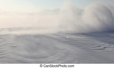 car drifting on ice - car drifting on mountain lake covered...