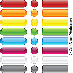 Bubble blank buttons - Blank web bubble buttons Vector