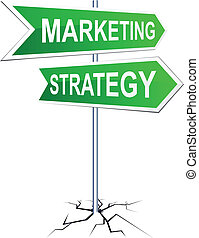 Marketing-strategy direction sign. - Vector direction sign...