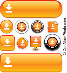 Download signs. - Download vector high-detailed icons.