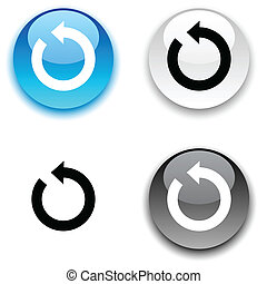 Refresh button - Refresh glossy round vector buttons