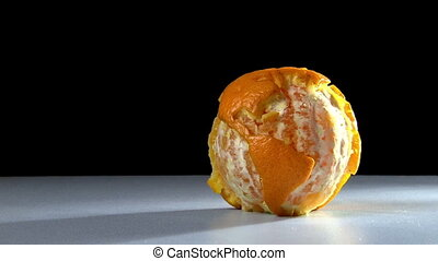 Orange world, cut - Planet earth made of orange, cut with...