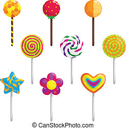 Lollipop - A vector illustration of different designs of...