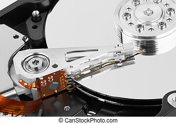 hard disk - close up of hard disk