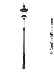 Street lamppost - An isolated photo of an old street...