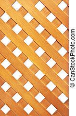 Wooden lattice isolated on white background