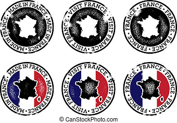 Vintage Style France Stamps