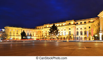 Royal Palace in Bucharest, Romania - The old Royal Palace,...