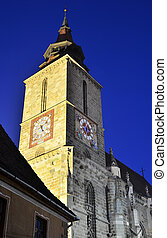 Blach Church nightview, Brasov, Romania - The Black Church...