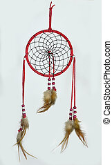 Red indian dream catcher - Simple, red, native american...
