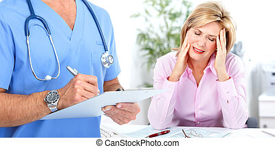 Doctor psychiatrist and patient. - Doctor psychiatrist and...
