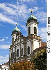 Jesuitenkirche Jesuit Church in Luzern, Switzerland -...
