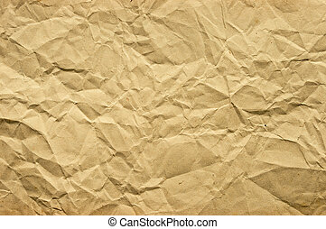 Crumpled paper - Old blank crumpled paper in yellow tone
