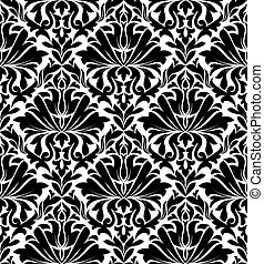 Damask seamless pattern - Vintage damask seamless pattern...