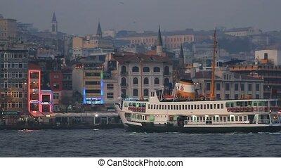 Istanbul, Karakoy at night