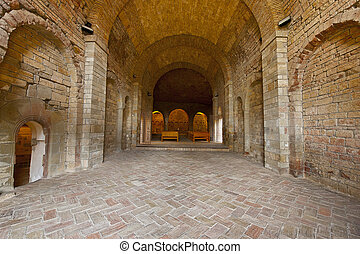 Royal Monastery - Vaulted Dungeon Royal Monastery in Aragon,...