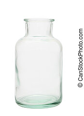 glass bottle - old glass bottle isolated on white background