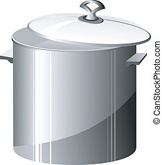Vector illustration of a metal pan