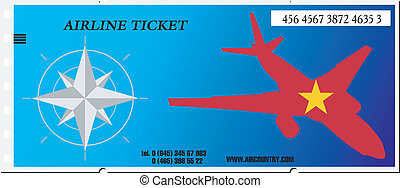 Vector illustration ticket to Vietnam