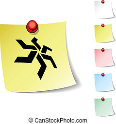 star icon - star sheet icon Vector illustration
