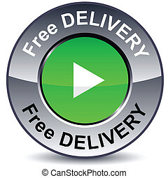 Free delivery round button.
