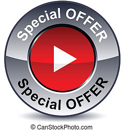 Special offer round button.