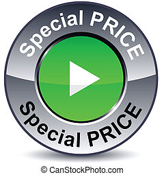 Special price round button. - Special priceround metallic...