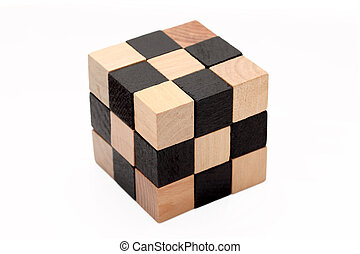 wooden blocks - wooden toy blocks isolated on white...