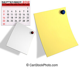 2012 calendar Write a note of the calendar isolated white...