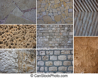 Set of textures - Set of natural stone textures