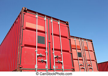 cargo container - Stack of cargo containers