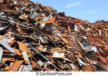 scrap metal - Pile of scrap metal for recycling
