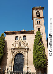 San Gil y Santa Ana Church in Granada. This church was built...