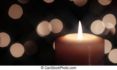 Christmas Candle and Lights Loop - Seamless loop with...