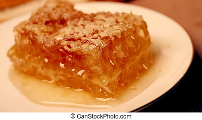 delicious honey on a plate