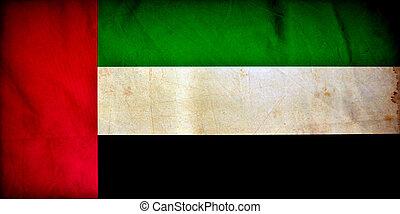 United Arab Emirates grunge flag