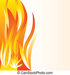 Flame background. - Beautiful fire background. Vector...