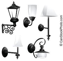 retro lanterns set