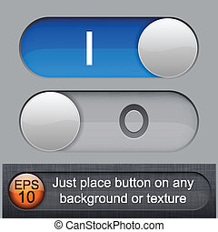 Rounded glossy relays. - Eps10 vector. Different blending...