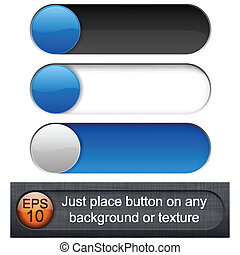 Rounded glossy sliders - Eps10 vector Different blending...