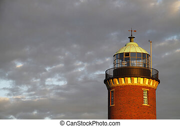 The lighthouse in Cuxhaven Lower Saxony, Germany