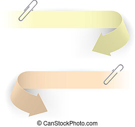 Clips and arrows - Realistic Arrows and Clips. Illustration...