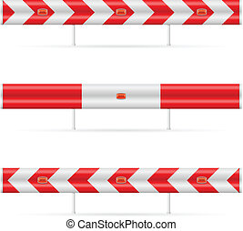 Construction barricade - road block Illustration on white...