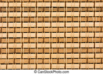 bamboo curtain pattern - close up of bamboo curtain pattern...