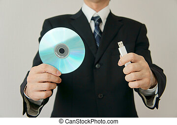 Information leakage attention CD-ROM and USB memory am...