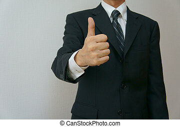 OK sign - Businessman gesture OK sign Horizontal composition...