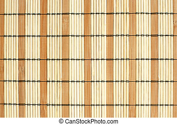 Pattern of bamboo placemat, for backgrounds or textures